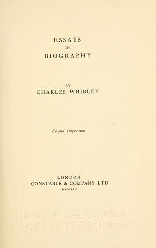 Download Essays in biography