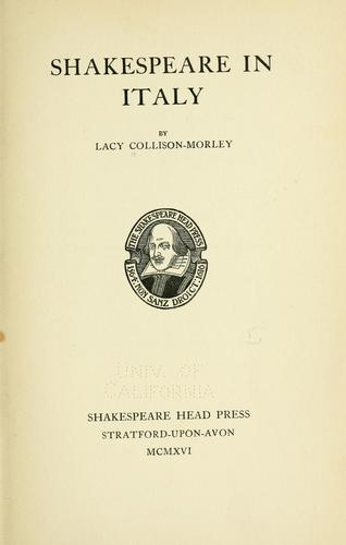 Download Shakespeare in Italy