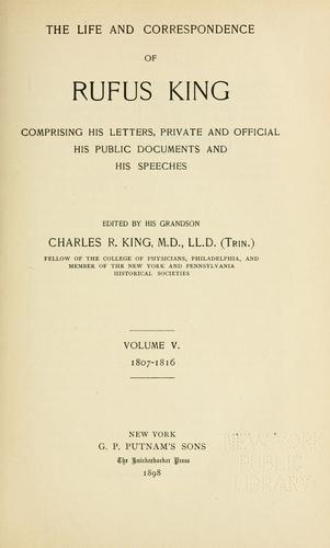 Download The life and correspondence of Rufus King