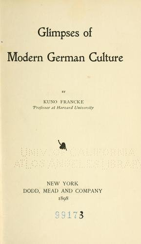 Glimpses of modern German culture