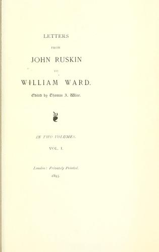 Letters from John Ruskin to William Ward