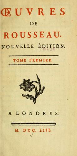 Œuvres de Rousseau.