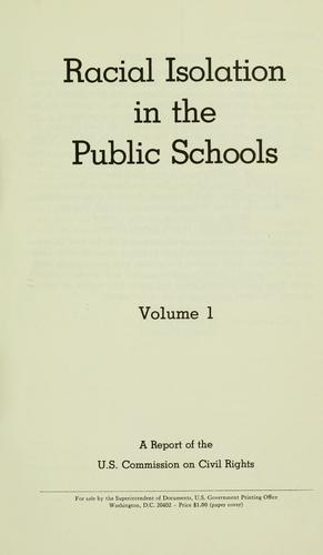 Download Racial isolation in the public schools