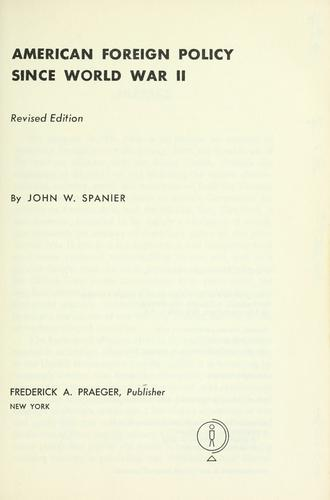 Download American foreign policy since World War II.