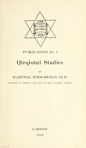 Download Qirqisāni studies
