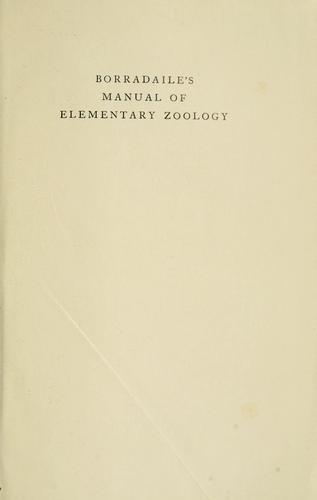 Manual of elementary zoology.