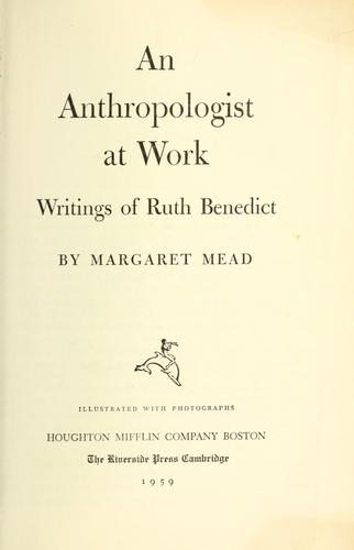Download An anthropologist at work