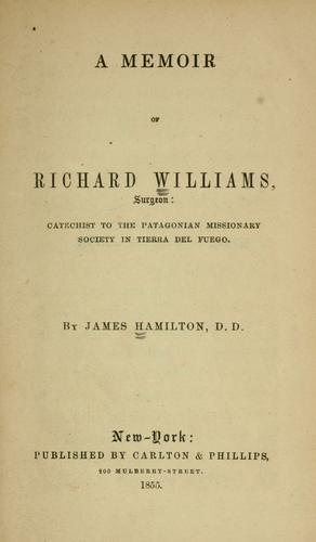 A memoir of Richard Williams, surgeon
