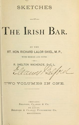 Download Sketches of the Irish bar.