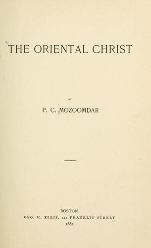 Download The oriental Christ
