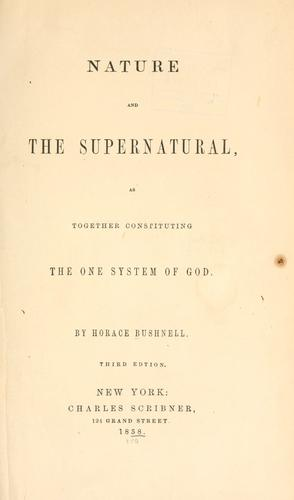 Download Nature and the supernatural