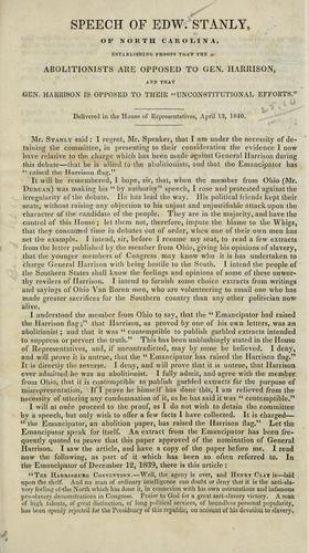 Download Speech of Edw. Stanly, of North Carolina
