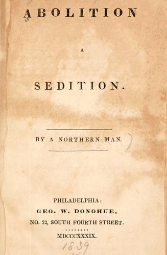 Download Abolition a sedition.