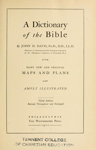 Download A dictionary of the Bible