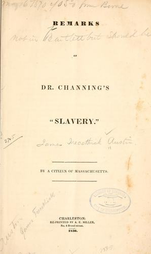 """Download Remarks on Dr. Channing's """"Slavery"""""""