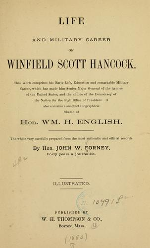 Download Life and military career of Winfield Scott Hancock