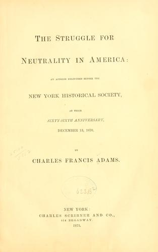 Download The struggle for neutrality in America