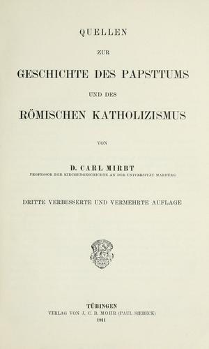 Quellen zur geschichte des papsttums und des römischen katholizismus