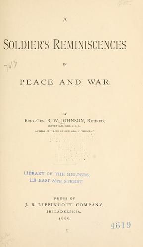 Download A soldier's reminiscences in peace and war.