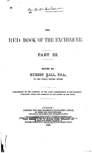 Download The Red book of the Exchequer