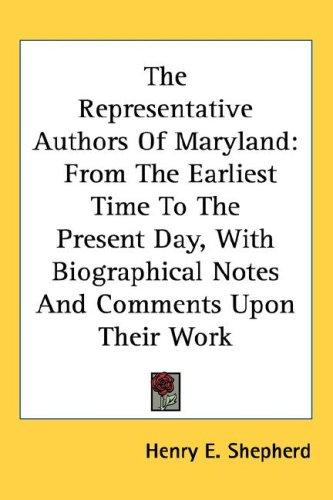 The Representative Authors Of Maryland