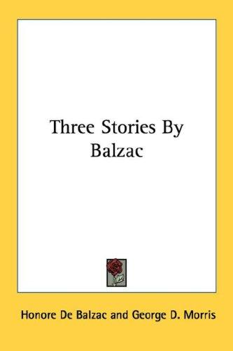 Download Three Stories By Balzac