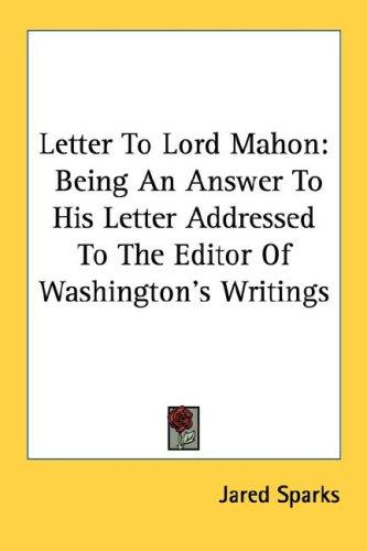 Letter To Lord Mahon