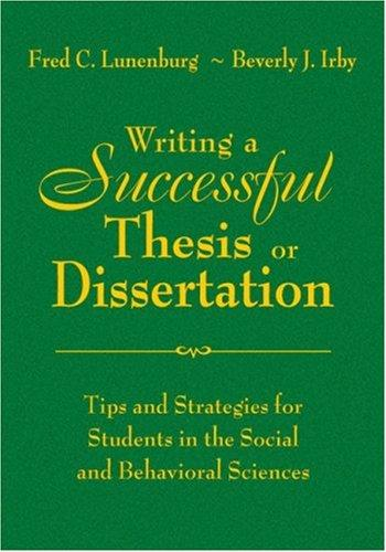 Download Writing a Successful Thesis or Dissertation