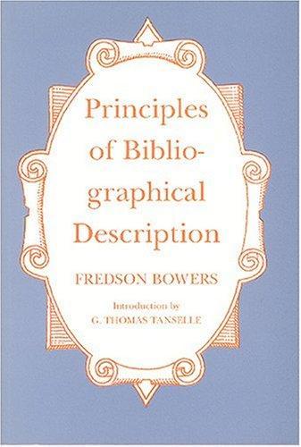 Download Principles of bibliographical description