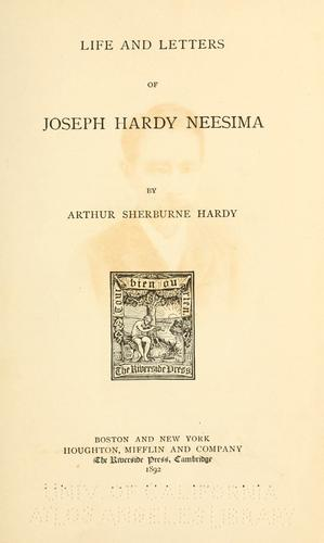 Life and letters of Joseph Hardy Neesima