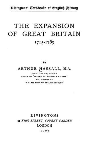 Download The expansion of Great Britain, 1715-1789