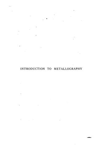 Introduction to metallography