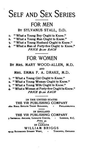 Download What a young wife ought to know