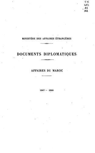 Documents diplomatiques …
