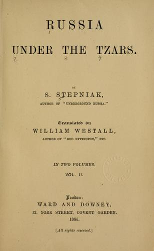 Download Russia under the tzars.