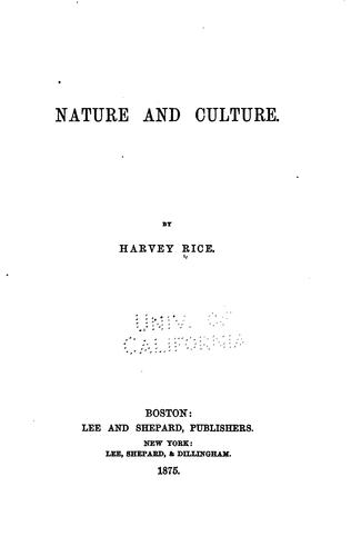 Download Nature and culture.