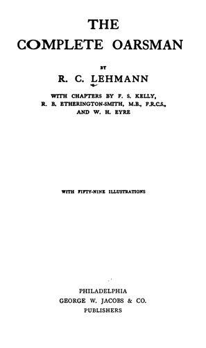 The complete oarsman