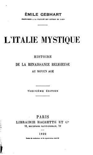 Download L' Italie mystique