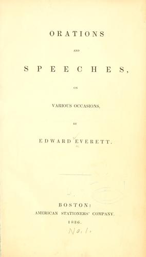 Download Orations and speeches on various occasions.