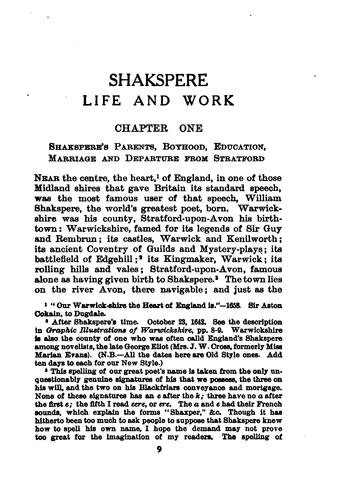 Download Shakespeare; life and work