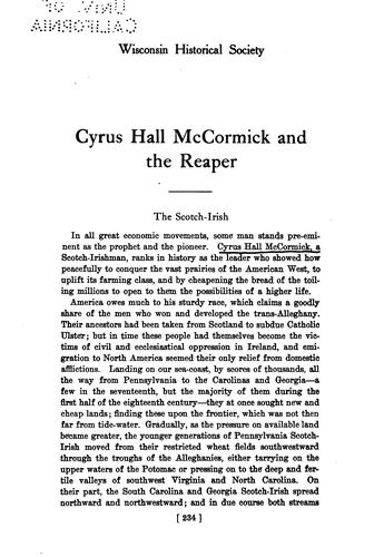 Download Cyrus Hall McCormick and the reaper