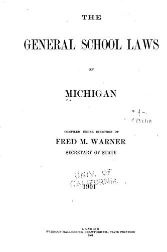 Download The general school laws of Michigan.