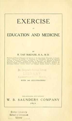 Download Exercise in education and medicine