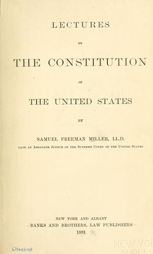 Download Lectures on the Constitution of the United States