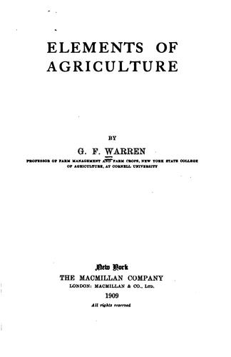 Download Elements of agriculture