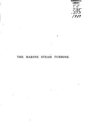 Download The marine steam turbine