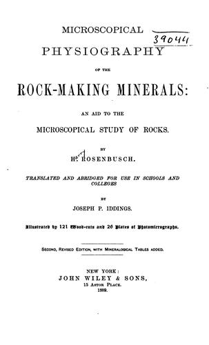 Download Microscopical physiography of the rock-making minerals