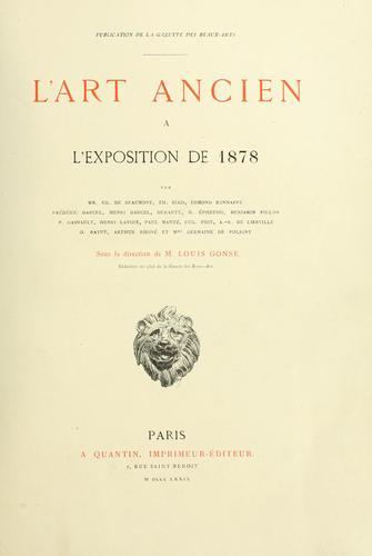 Download L' art ancien à l'Exposition de 1878