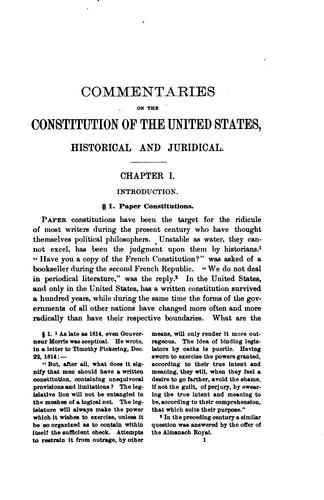 Download Commentaries on the Constitution of the United States, historical and juridical