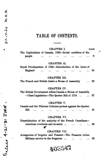 Download The constitutional history of Canada.